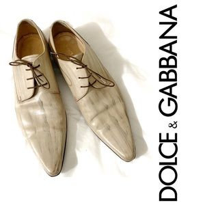 Dolce and Gabbana Handmade Finished Pointed Shoe